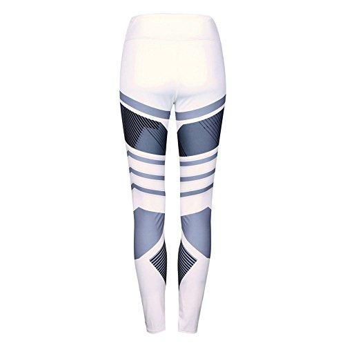 Yalatan Women's High Waist Slim Fit Geometric Printing Stretch Sports Yoga Leggings