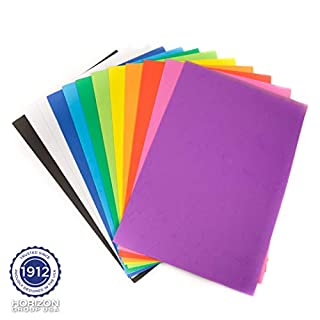 "Horizon Group USA Rainbow Foam Sheets, 12"" X 18"", Pack of 12, Multi-Color"