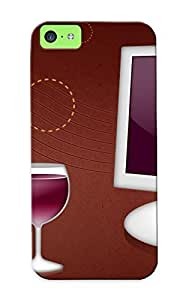 Hot Wine First Grade Tpu Phone Case For Iphone 5c Case Cover Kimberly Kurzendoerfer