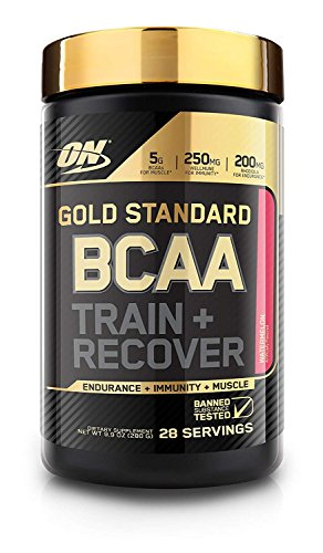 (Optimum Nutrition Gold Standard BCAA, Watermelon, 28 Servings, Branched Chain Amino Acids, 5g BCAA blend)