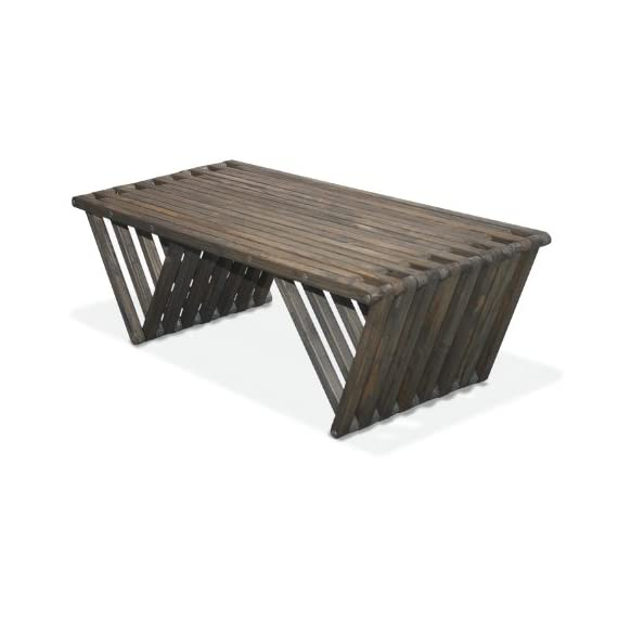 GloDea X90 Coffee Table, Wild Black - Modern Design Solid Wood Outdoor Stain sealer - patio-tables, patio-furniture, patio - 416mHg2WzVL. SS570  -