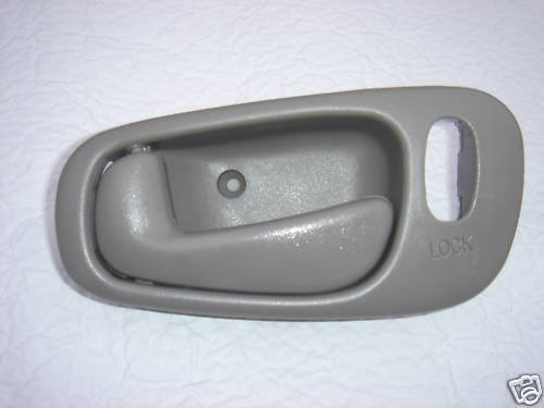 1998 1999 2000 2001 2002 Chevrolet Prizm Power Lock GRAY LH Drivers Side Inside Door Handle for Chevy Prizm Left Hand Driver Interior Handle 98 99 00 01 02 for Power Locks and Manual Windows ONLY