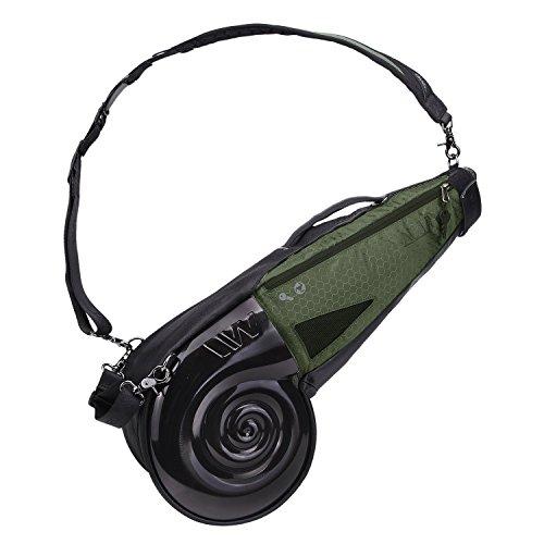 wellzher-nautilus-driving-range-sunday-golf-bag-black-hunter-green