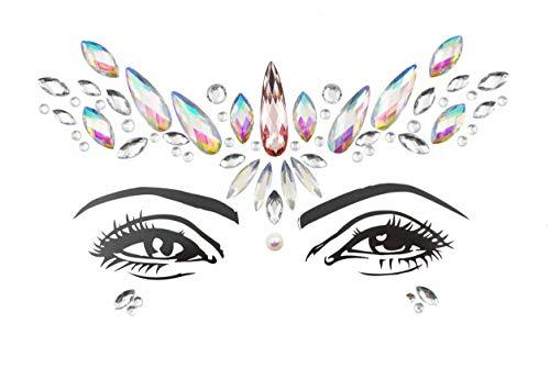 Halloween desert ROSE face jewels gems glitter sticker Crystal Temporary Eyes Tattoo Transfer 3d body gem -