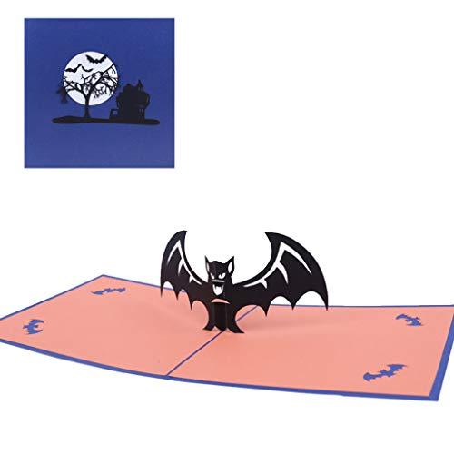 Dabixx Halloween Bat 3D Pop Up Greeting Cards