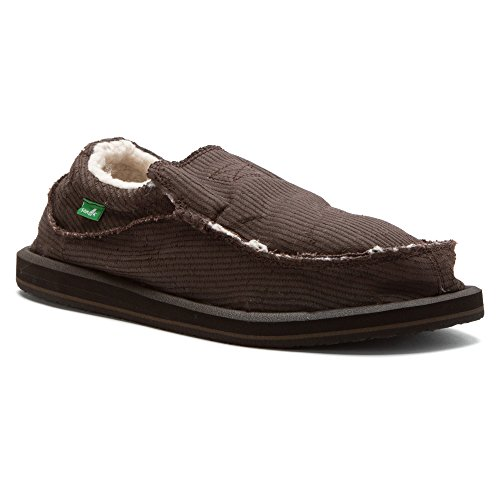 Sanuk Heren Chiba Chill Slip-on Loafer Donkerbruin Waxed Cord