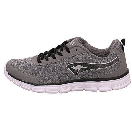 KangaROOS Steel Ref Basse KR Grau Run Black Grey Donna Jet Sneaker TBaTrFq