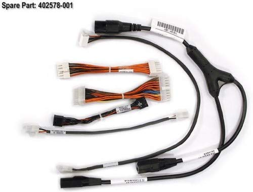 HP 402578-001 Power cable kit - Includes power cable assemblies for the following: 12-POS, 4-POS isolator board, 3-POS KVM, Y-power, 14-POS, 20-POS main power and hard drive floppy power