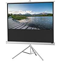 celexon 83 Tripod Projector Screen Tripod Economy, 72 x 41 inches viewing area, 16:9 format, White edition