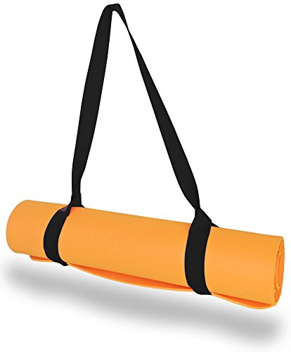 "Clever Yoga Mat Strap Sling Adjustable Made With The Best, Durable Cotton - Comes With Our Special ""Namaste"" (Black)"