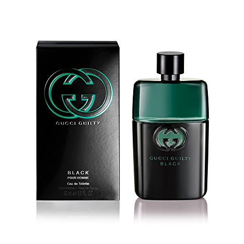 Gucci Guilty Black Pour Homme Eau de Toilette Spray for Men,