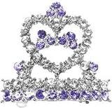 Mirage Pet Products Tiara Hair Purple Barrette