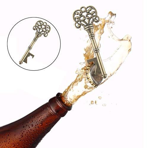 VGOODALL 36 STK. Schlüssel Flaschenöffner, Hochzeit Gastgeschenke 6 Stile Vintage Flaschenöffner Schlüsselanhänge Durchsichtige Tasche Geburtstag Tischdeko Hochzeit Bieröffner