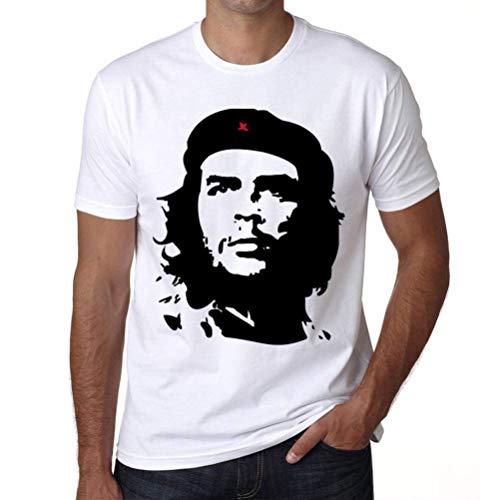 Che Guevara Blanco, Camiseta para las hombres, manga corta, cuello redondo, blanco