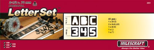 Milescraft 2201 2-1/2-Inch Horizontal Character Template Set for Milescraft Sign Making System