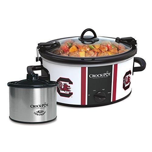 Crock-Pot South Carolina Gamecocks Collegiate 6-Quart Cook & Carry Slow Cooker with Bonus 16-Oz. Little Dipper Food Warmer