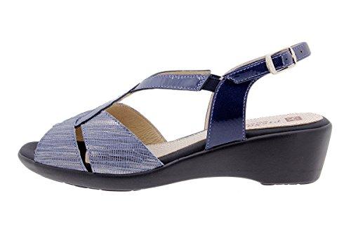 Confort Talon PieSanto Amples Cuir compensé Sandales Confortables 1552 Chaussure à en Marino Femme fa8RwEaq
