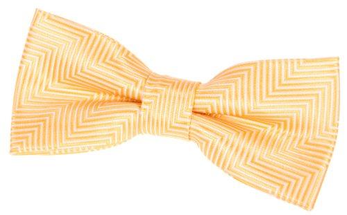"Retreez Herringbone Stripe Woven Pre-tied Bow Tie (4.5"") - Yellow"