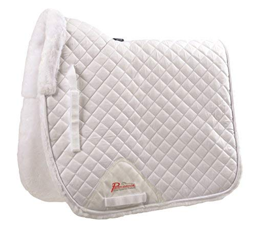 SupaFleece Fully Lined Dressage Pad White