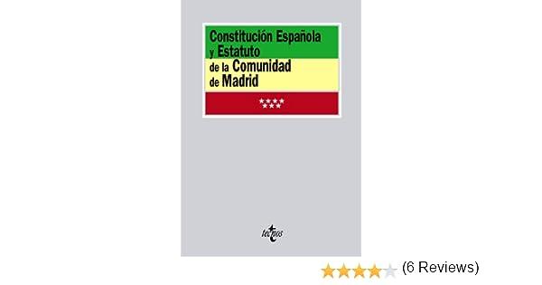 Constitución Española y Estatuto de la Comunidad de Madrid Derecho - Biblioteca de Textos Legales: Amazon.es: Aa.Vv.: Libros
