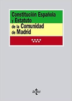 Constitución Española Y Estatuto De La Comunidad De Madrid por Aa.vv. epub