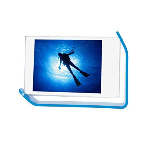 [Fujifilm Instax Mini Frame] -- CAIUL 300 Degrees Rotatable Clear Acrylic Frame, Double Sided Photo Frame for Instax Mini 8 8+ 9 70 7s 90 25 26 50s Film, Blue