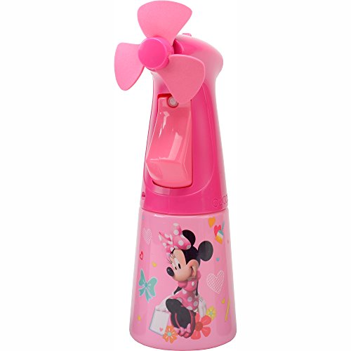O2COOL Licensed Minnie Mouse Misting Fan, Handheld Misting