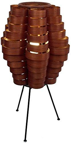 Eangee NC101pétalos Listón de bambú lámpara de mesa