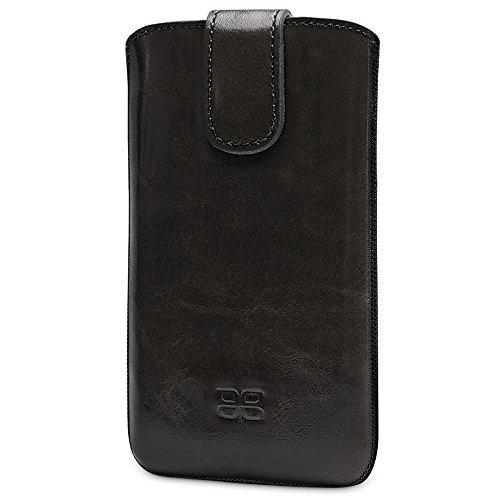 Bouletta® Apple iPhone 6S Plus Hülle Leder iPhone 6 Plus Case Tasche Ledertasche Schutzhülle Etui Handytasche, Mit Magnetverschluss, Rausziehlasche 100% Passgenau, MultiCase Rustic Schwarz