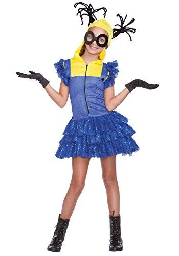 Miss Minion Girls Costume (Adult Evil Minion Costume)