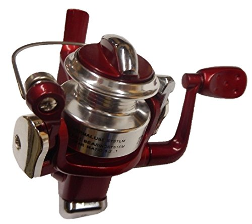 Ht Ice Fishing Gear - HT Micro Tundra Ice Fishing Reel - Spinning Reel - Red and Silver #TN-500SR