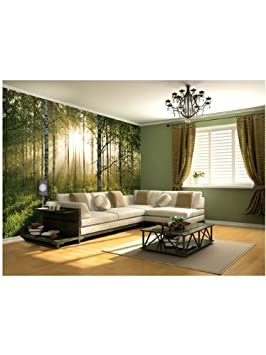 1wall stunning green forest green trees and sunrise wallpaper wall1wall stunning green forest green trees and sunrise wallpaper wall mural