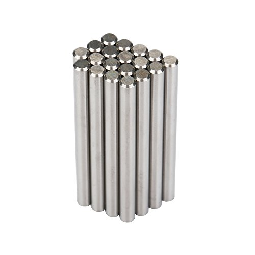 NCC 20Pcs YK25A Ground Metric Cemented Carbide Rods 4mm Diameter and 50mm Overall Length for High-speed Tooling Routers, End Mills, Reamers