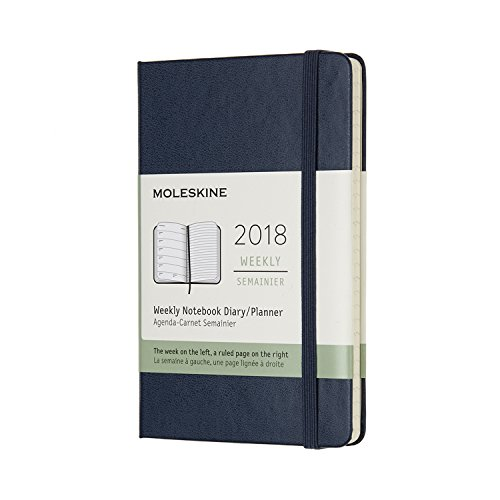 Moleskine 12 Month Weekly Planner, Pocket, Sapphire Blue, Hard Cover (3.5 x 5.5)