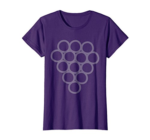 Womens Grapes Simple Cute Cheap Halloween Costume Fruit Shirt Medium Purple -