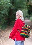 PINZON Large Unisex Boho Aztec Schoolbag Foldable