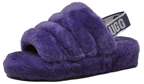 UGG Women's Fluff Yeah Slide Wedge Sandal, Violet Bloom, 7 M US ()