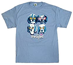 Funny Little Dog Men's or Women's Cotton T-Shirt, The Beagles, X-Large