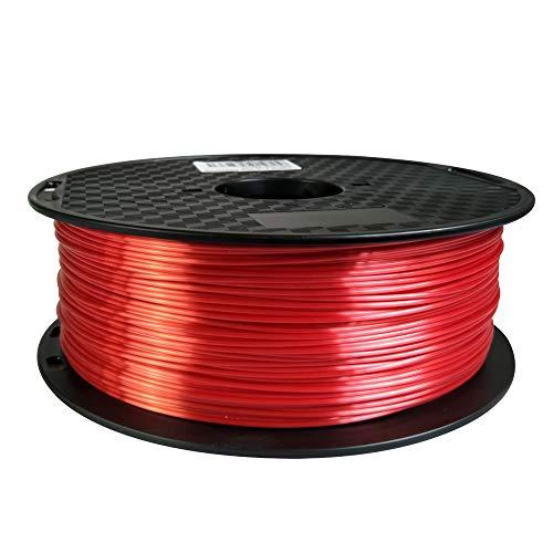 Silk Pink Red PLA Filament 1.75 mm 3D Printer Filament 1KG 2.2LBS Spool 3D Printing Materials Shiny Silky Shine Silk Like Feeling PLA CC3D Also Gold Silver Copper