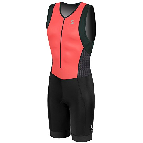 Synergy Men's Triathlon Trisuit (Red, Large) -