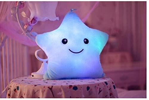 E Vigilia Glowing LED Night Light Twinkle Star Shape Plush Pillow hot Colors ()