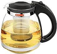 Bule de chá chinês de 1500ml resistente ao calor com filtro infusor de chá Flor Chaleira Café Cafeteira Vidro