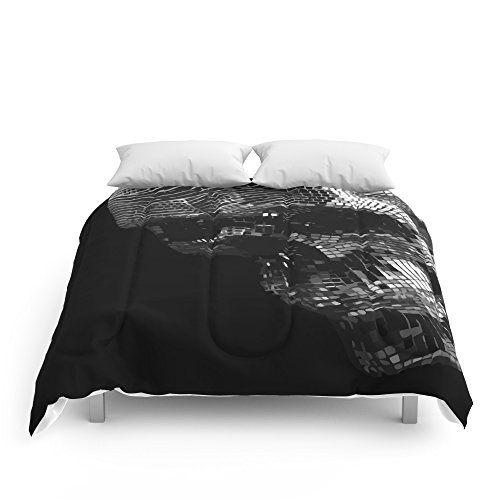Society6 Mirrors Skull Comforters Queen: 88'' x 88'' by Society6