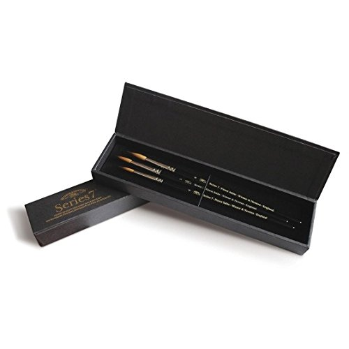Winsor & Newton Series 7 Kolinsky Brush Gift Set Of 3