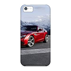 Anti-scratch And Shatterproof Front Of Red Bmw Z4 Zagato Phone Cases For Iphone 5c/ High Quality Tpu Cases