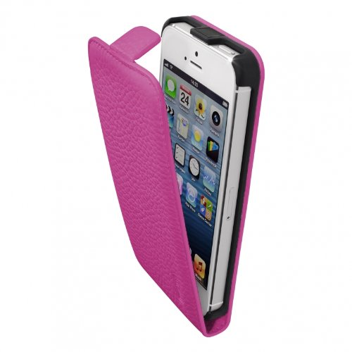 Artwizz 9663-SJLF-PL-P5-PK Artwizz SeeJacket Leather Flip für Apple iPhone 5/5S (rosa )