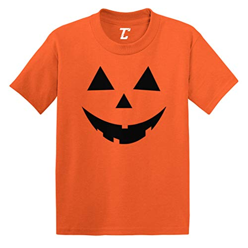 Pumpkin Face - Jack O' Lantern Infant/Toddler Cotton Jersey T-Shirt (Orange, 5T)]()