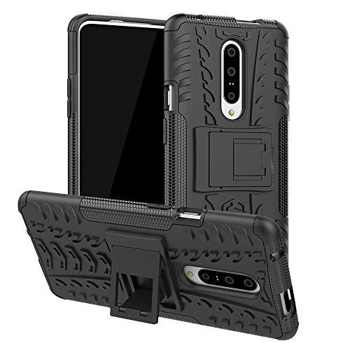 Prime Retail Kick Stand Cover Black Hard with Stand Back Cover for OnePlus 7 Pro (Black)