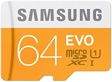 Samsung Memory 64GB Evo MicroSDXC UHS-I Grade 1 Class 10 Memory Card with SD Adapter