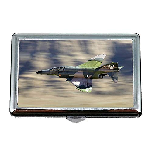 Wallpaper Jet Fighter,Cigarette Storage Case/Box,Fighter Jet Model,Business Card Holder Business Card Case Stainless